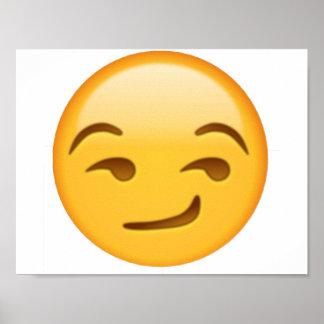 Emoji - Smirking Poster
