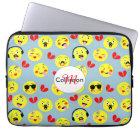 Emoji Style Fun Cute Trendy Smiley Faces Laptop Sleeve