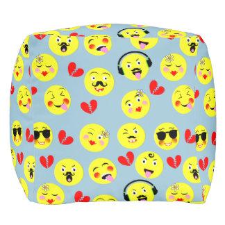 Emoji Style Fun Cute Trendy Smiley Faces Pouf