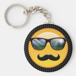 Emoji Super Shady ID230 Basic Round Button Key Ring