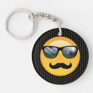 Emoji Super Shady ID230 Double-Sided Round Acrylic Key Ring