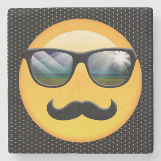 Emoji Super Shady ID230 Stone Coaster
