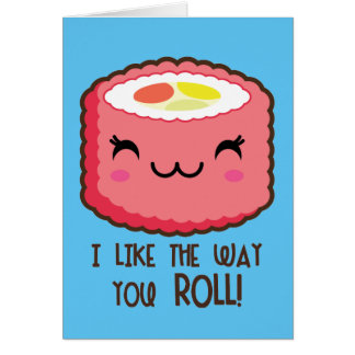 Emoji Sushi Roll Card