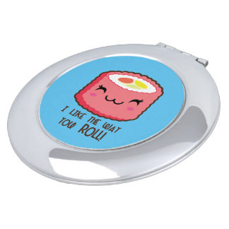 Emoji Sushi Roll Mirror For Makeup