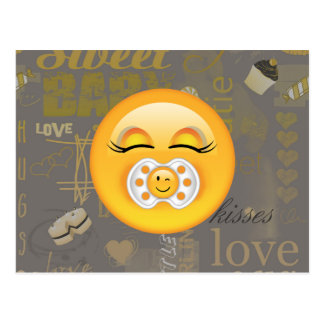 Emoji Sweet Baby ID231 Postcard