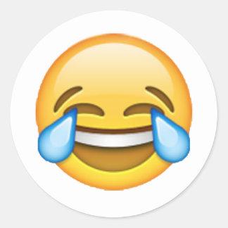 Emoji - Tears Of Joy Classic Round Sticker