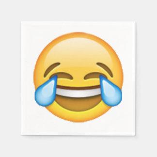 Emoji - Tears Of Joy Disposable Serviette