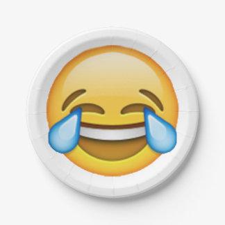 Emoji - Tears Of Joy Paper Plate