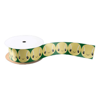 Emoji Tennis Ball Satin Ribbon