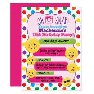 Emoji Texting Multi-Color Girl's Birthday Teen