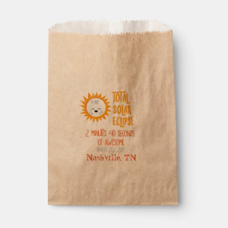 Emoji Total Solar Eclipse Favor Bag with Location