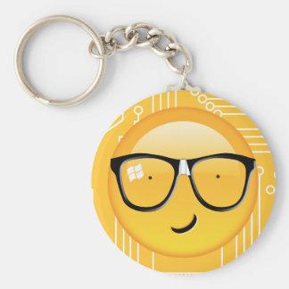 Emoji Totally Techie ID229 Basic Round Button Key Ring
