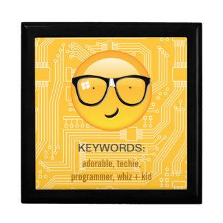 Emoji Totally Techie ID229 Large Square Gift Box