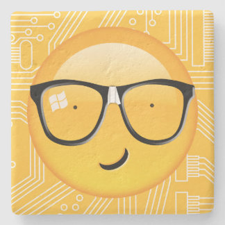 Emoji Totally Techie ID229 Stone Coaster