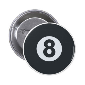 Emoji Twitter - Eight ball Pool 6 Cm Round Badge