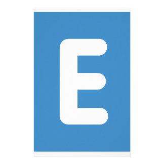emoji Twitter - Letter E Custom Stationery