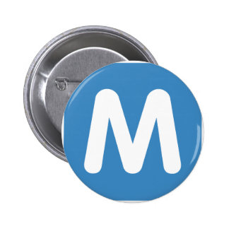 Emoji Twitter - Letter M 6 Cm Round Badge