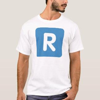 Emoji Twitter Letter R T-Shirt