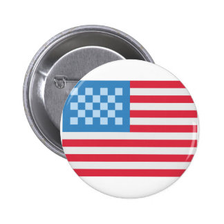 Emoji Twitter the USA Flag 6 Cm Round Badge