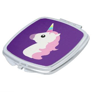 Emoji Unicorn Compact Mirrors
