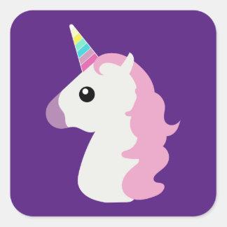 Emoji Unicorn Square Sticker