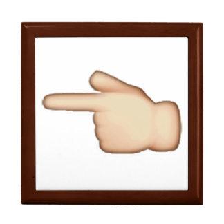 Emoji - White Left Pointing Backhand Index Gift Box