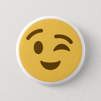 Emoji Wink 6 Cm Round Badge