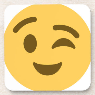 Emoji Wink Beverage Coasters