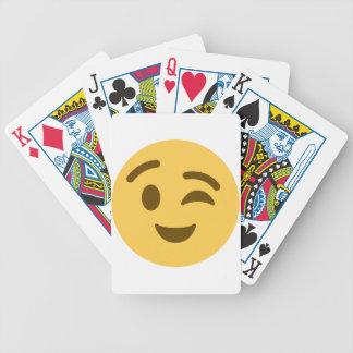 Emoji Wink Bicycle Playing Cards