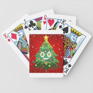 Emoji Xmas Tree Design Bicycle Playing Cards