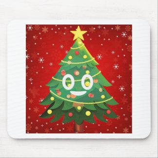 Emoji Xmas Tree Design Mouse Pad