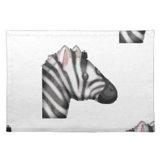 emoji zebra placemat