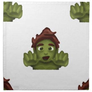 emoji zombie man napkin