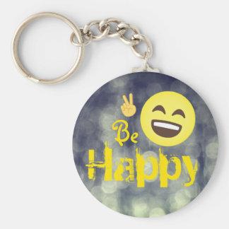 Emojis | Be Happy Key Ring