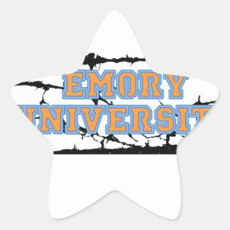 Emory University Star Sticker