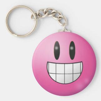 """Emoticon 2.25"""" Basic Button Keychain"""