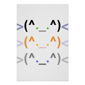 """""""Emoticon"""" 3 CUTE CATS! - Poster - Vertical"""