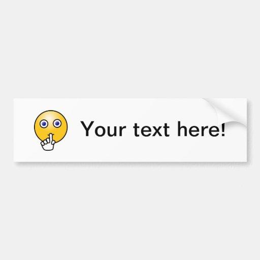 Emoticon Bumper Sticker