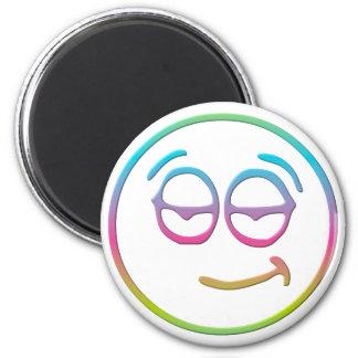 "Emoticon "" Chillin' "" 6 Cm Round Magnet"