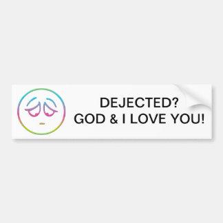 """Emoticon """"Dejected"""" Bumper Sticker"""