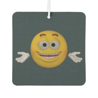 Emoticon _ Don't worry, be happy. Animation style Car Air Freshener