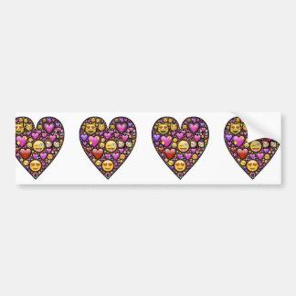 Emoticon Heart Bumper Sticker