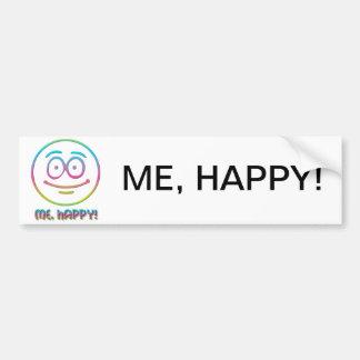 """Emoticon """"Me, Happy!"""" Car Bumper Sticker"""