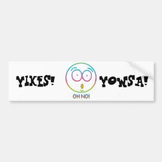 """Emoticon """"Oh no!"""" Bumper Stickers"""