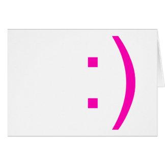 emoticon smiley face card