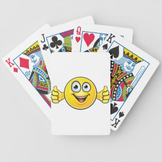 Emoticon Thumbs Up Icon Bicycle Playing Cards