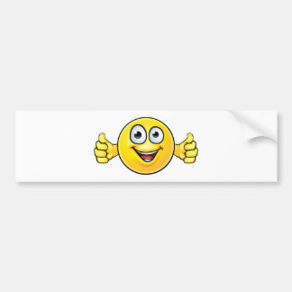 Emoticon Thumbs Up Icon Bumper Sticker