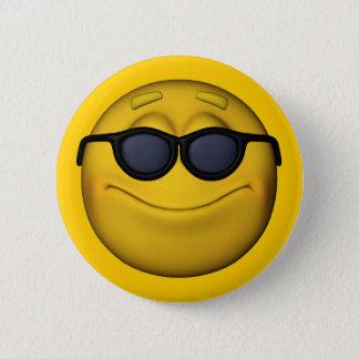 Emoticon With Sunglasses 6 Cm Round Badge