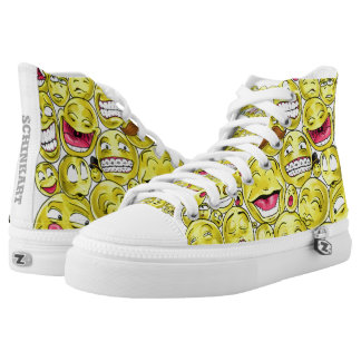 Emoticons High Tops Printed Shoes
