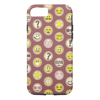 Emoticons Sugar Cookie Pattern iPhone 7 Case